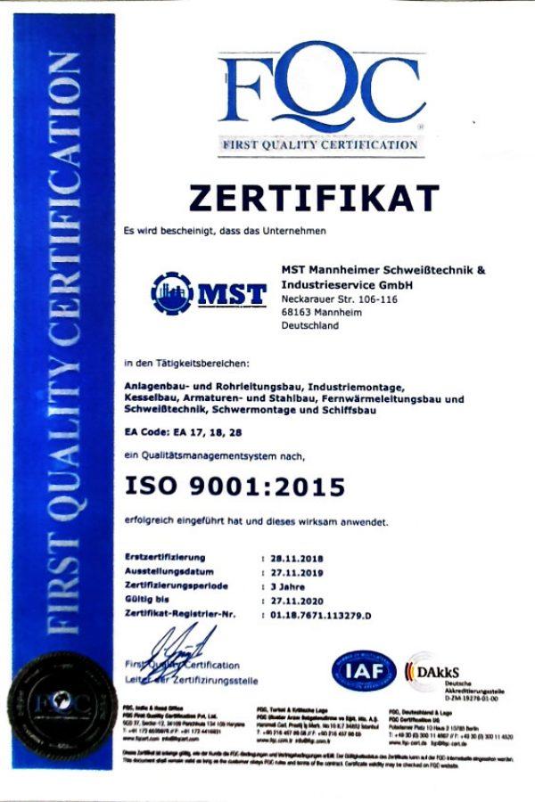 FQC-Zertifikat